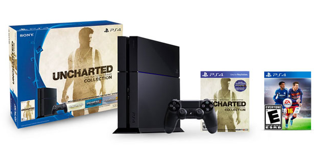 Sony Ps4 500 Gb The Nathan Drake Collection Bundle Fifa 16