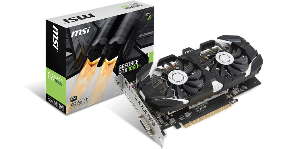 bañera Menos templado  MSI GeForce GTX 1050 TI 4GT OC - SoloTodo